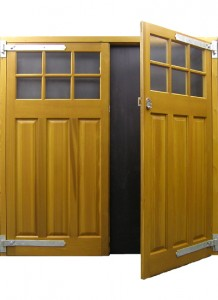 Cedar Door Middleton Side Hinged Open