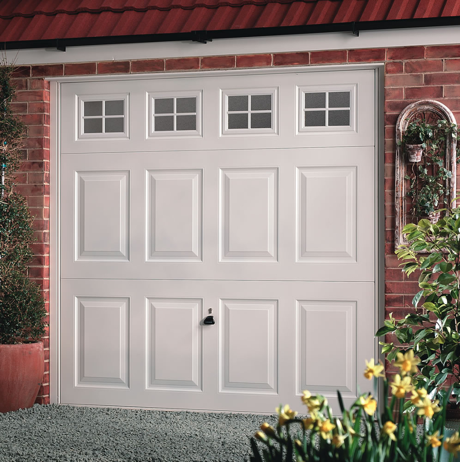 All up and over garage door styles are available from for Garage doors uk