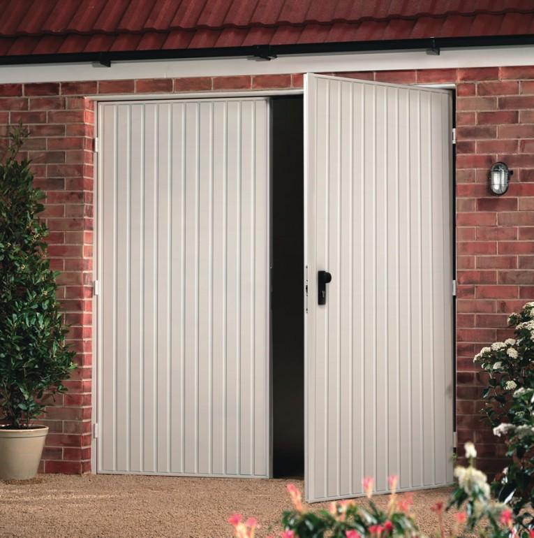 garador carlton side hinged lakes garage doors