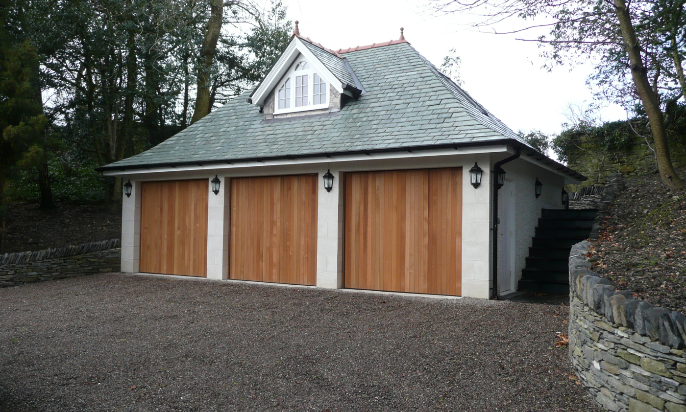 Wooden garage doors cumbria lakes doors for Garage doors uk