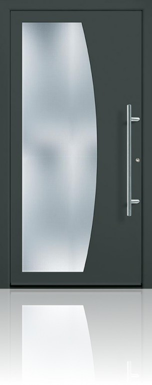 Groke 12870 traffic grey & Groke 12870 Front Door - Lakes Doors