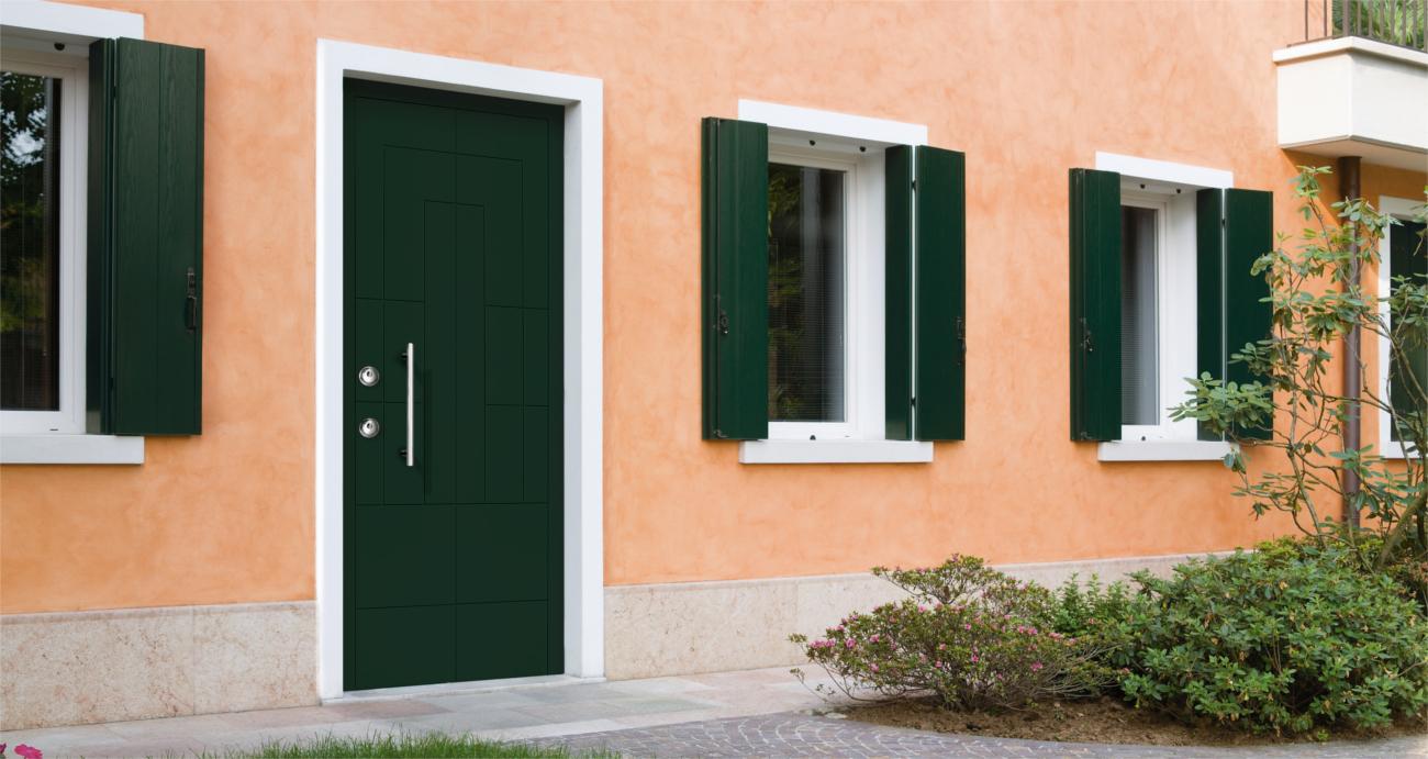 Silvelox ARA front door fir green