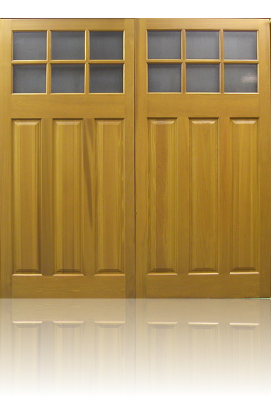 Cedar Door Middleton Side Hinged garage door