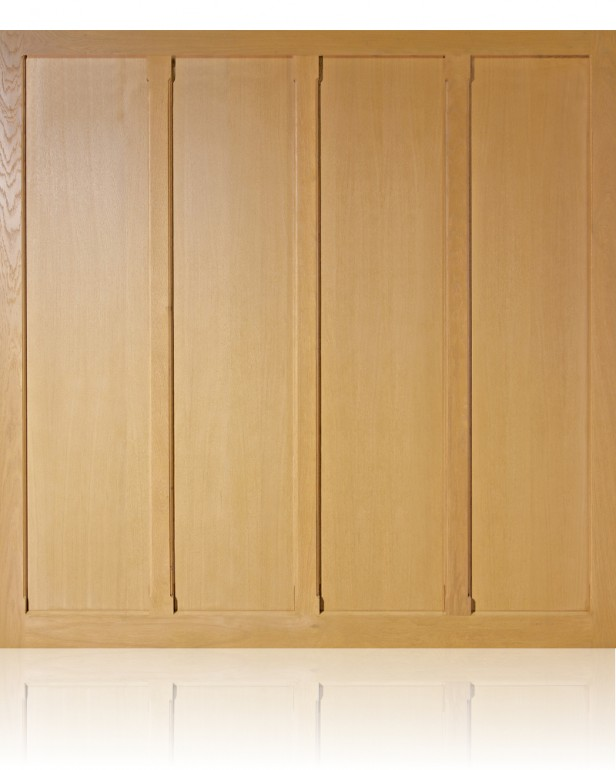 The Standerwick oak up and over garage door is from the Woodrite Monmouth range of oak doors. The Monmouth collection, made from selected oak veneered plywoods and oak mouldings, is perfect for the simple but classic flat faced designs with raised oak moulded features. The Monmouth Standerwick oak up and over garage door, comes fully finished as standard and there is a range of 12 colours to choose from. Doors are available with canopy or retractable gear. The Standerwick is available with Super-Chassis lifting gear in a range of standard single and double sizes. Super-Chassis features a strong corrosion protected steel chassis into which the lifting gear is integrated. They are a lightweight gear suitable for all. It. Super-Chassis are available in canopy or retractable action. The quality of the joinery really sets these doors apart. Elegantly chamfered edges and other detailing is both practical, protecting edges, and attractive. Side hinged doors have a night latch and finger pull (commonly used on front doors) with the option of a mortice lock and lever set. Personnel doors have a mortice lock and lever set as standard. Side hinged doors have a rebated leading edge, that when matched with one of our frames with its stop bead, creates a well finished job. Personnel doors are available with a rebated frame and have a mortice lock and lever set as standard - the classic side door for a garage. Both side hinged and personnel doors are available with a hardwood threshold to add a finishing touch at floor level.