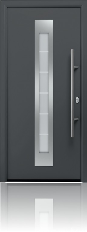 The Garador FGS 750 provides excellent thermal insulation for your home and has a U-value as low as 0.99 W/m2.K – with an extra thick door leaf filled with thermally efficient PU foam and a thermal break built into the panel design. The 80 mm aluminium frame also has a thermal break with PU foam infill built into its design to further maintain its thermal performance. The door is regularly subjected to the strictest quality tests in order to provide a product that is: water tight under heavy rain, air tight under heavy winds, providing acoustic and thermal insulation and security. The FGS 750 modern design doors feature a superb high gloss surface finish, as well as 3 other Timber-effect finishes – Golden Oak, Dark Oak and Night Oak. The door is also available in 11 of the RAL colours we provide. This is our unmatched combination of excellent thermal insulation and exclusive appearance to enhance energy savings and beautify your home. Our glazed FGS 750 entrance door features high quality, insulated laminated safety glass. Whilst triple pane insulated glazing (44 mm) provides even more thermal insulation. A flush fitting appearance on the interior and exterior, as well as a stainless steel glazing frame, accentuates the door's elegant look. Each FGS 750 entrance door can be supplied with a matching side element and/or transom light. Choose from our glass designs – Sand-blasted Float glass & Clear Float glass – for your individual style. These doors come complete with a 1000 mm long robust bar handle made from high quality stainless steel which blends perfectly with the design elements of the door.
